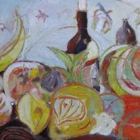 ensemble con cielo I, 55 x 46 cm, oil on canvas, 2012 (private collection)