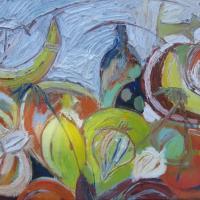 ensemble con cielo III, 55 x 46 cm, oil on canvas, 2012