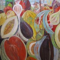 Fiesta de verano I, 92 x 73 cm, oil on canvas, 2012