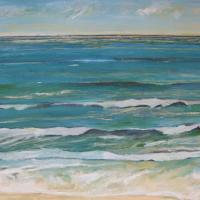Ritmo turquesa, 146 x 114 cm, oil on canvas, 2012 (private collection)