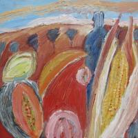 sueño otoñal, 40 x 40 cm, oil on canvas, 2013 (private collection)