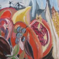 conferencia multicultural I, 55 x 46 cm, oil on canvas, 2013 (private collection)