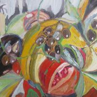 conferencia multicultural II, 55 x 46 cm, oil on canvas, 2013