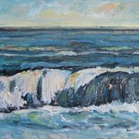 ola tormentosa, 92 x 73 cm, oil on canvas, 2013