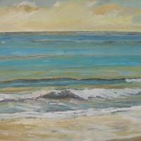 ritmo al atardecer, 92 x 73 cm, oil on canvas, 2013 (private collection)