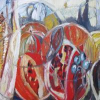 conferencia multicultural V, 55 x 46 cm, oil on canvas, 2014