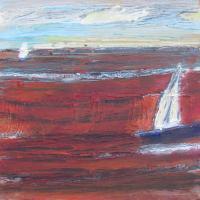 Infinito rojo, 20 x 20 cm, oil on canvas, 2014 (private collection)