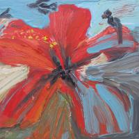 Flor I, 20 x 20 cm, Öl auf Leinwand, 2015