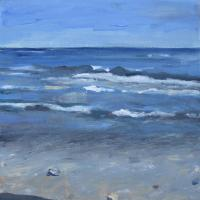 Infinito azul, 20 x 20 cm, oil on canvas, 2015