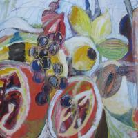 conferencia multicultural, 55 x 46 cm, oil on canvas, 2014