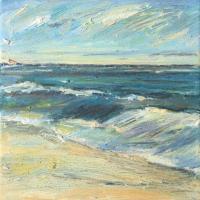 El horizonte I, 20 x 20 cm, oil on canvas, 2017 (private collection)