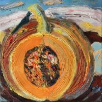 Calor y Nieve II, 20 x 20 cm, oil on canvas, 2017