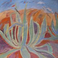 Pita con Sierra I, 40 x 40 cm, oil on canvas, 2017