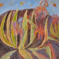 Pita con Sierra II, 40 x 40 cm, oil on canvas, 2017
