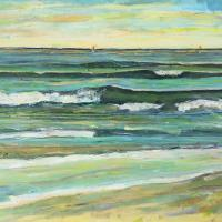 Canción del Mar al atardecer II, 92 x 73 cm, oil on canvas, 2017 (private collection)
