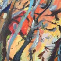 Volar hacía dentro, 55 x 46 cm, oil on canvas, 2019