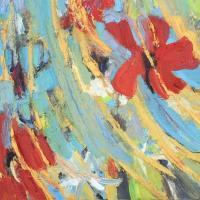 Flor y espacio II, 55 x 46 cm, oil on canvas, 2019