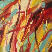 Dentro II, 55 x 46 cm, oil on canvas, 2018