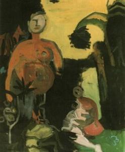 Sueño chino, 130 x 102 cm, oil on canvas, 1997 by Jane Kleinschmit