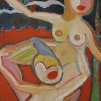 Volando II, 55 x 46 cm, óleo sobre tela, 2008