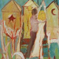 Sueño con piramides, 80 x 60 cm, óleo sobre tela, 2009 (colección privada)