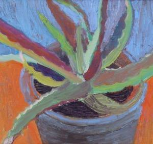 Cactus I, 50 x 40 cm, oil on canvas, 2006