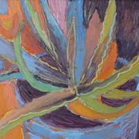 Cactus II, 50 x 40 cm, oil on canvas, 2006