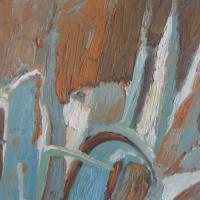 Creciendo II, 46 x 33 cm, oil on canvas, 2008