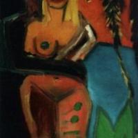 Palmeras, 65 x 81 cm, oil on canvas, 1999