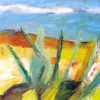 Vista tropical, 50 x 40 cm, Mischtechnik, 2003 (Privatbesitz)