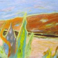 Cactus, 50 x 40 cm, mixed media, 2003