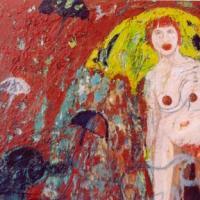 Mujer con sombrero, 100 x 81 cm, oil on canvas, 2004 (private collection)