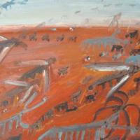 La invasión, 46 x 38 cm, óleo sobre tela, 2004