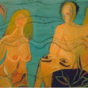 Sinfonia acuatica, 129 x 93 cm, técnica mixta, 2004