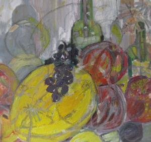 Fiesta de otoño I, 55 x 46 cm, Mischtechnik, 2009 (Privatbesitz)