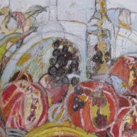 Fiesta de otoño VII, 55 x 46 cm, Mischtechnik, 2010 (Privatbesitz)