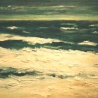 Olas y el mar, 146 x 97 cm, oil on canvas, 2002 (private collection)