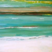 Mar entre dia y noche, 92 x 60 cm, oil on canvas, 2004