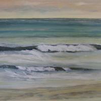 Olas de mojacar, 100 x 81 cm, oil on canvas, 2009 (private collection)