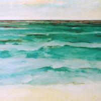 Mar turquesa, 130 x 90 cm, oil on canvas, 2004