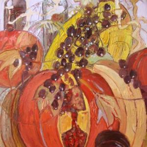 Fiesta de otoño X, 92 x 73 cm, Öl auf Leinwand, 2010 (Privatbesitz)