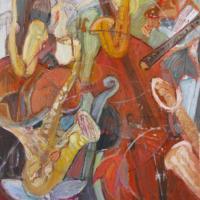 Jazz I, 92 x 73 cm, Mischtechnik, 2011 (Privatbesitz)