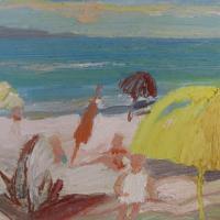 Vista al mar I, 41 x 33 cm, oil on canvas, 2009