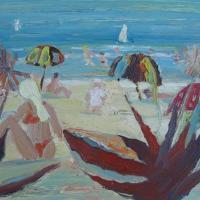 Vista al mar con cactus, 55 x 46 cm, oil on canvas, 2009
