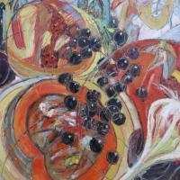 Fiesta de otoño XV, 92 x 73 cm, Öl auf Leinwand, 2011 (Privatbesitz)