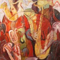 Jazz II, 92 x 73 cm, Öl auf Leinwand, 2011 (Privatbesitz)