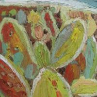 Cactus con sierra, 33 x 24 cm, óleo sobre tela, 2010 (colección privada)