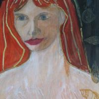Retrato, 50 x 40 cm, mixed media, 2002 (private collection)