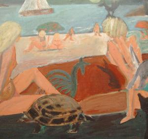 La tortuga, 146 x 97 cm, oil on canvas, 2003