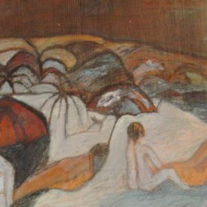 Calor del verano, 60 x 50 cm, mixed media on wood, 2004 (private collection)